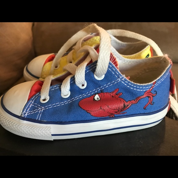 312ebb988f6b Converse Other - Size 8 toddler Converse Dr Seuss like new